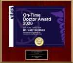 Dr. Bellman Receives the On-Time Doctor Award of 2020